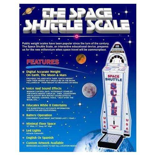 Space Shuttle Coin Operated Weight Scale Brochure | moneymachines.com