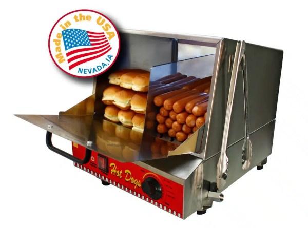 The Classic Dog Hot Dog Steamer Machine | moneymachines.com