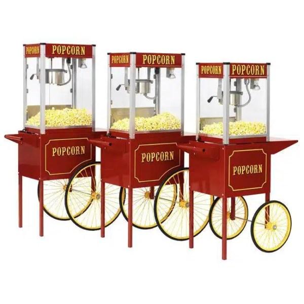 Theater Pop 8 Ounce Popcorn Machine With Medium Cart Combo | moneymachines.com