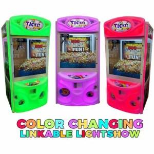 "Ticket Zone 36"" Skill Crane Ticket Vending Game Machines | moneymachines.com"