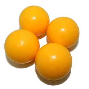 Smooth Yellow Foosball Table Balls | moneymachines.com