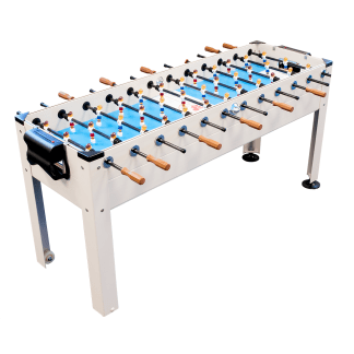2 - 6 Player Blue Sky Indoor and Outdoor Game Room Soccer Table | GT-BS- SOC-6P | moneymachines.com