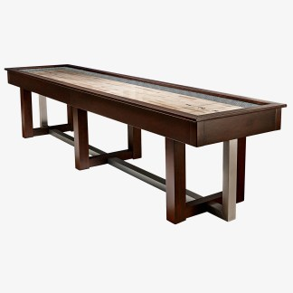 HJ Scott® 12' Abbey Shuffleboard Espresso Stained Maple | SBA12E | moneymachines.com