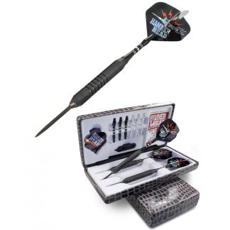 Hammer Head Heavy Weights Edge Grip Black Steal Finish Dart Set | moneymachines.com