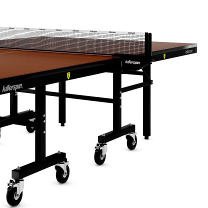 Killerspin MyT10 Mocha Table Tennis Table Legs Net Detail | moneymachines.com