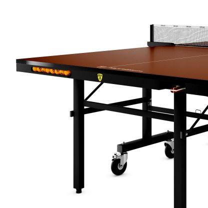 Killerspin MyT10 Mocha Table Tennis Table Corner Detail | moneymachines.com