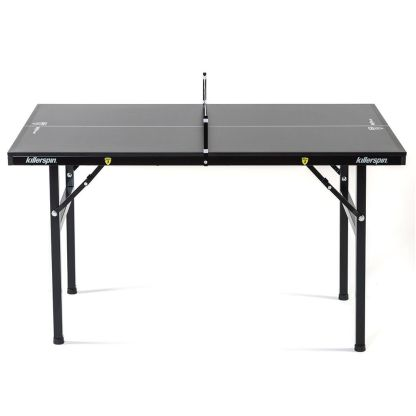Killerspin MyT Small Deep Chocolate Ping Pong Table Side View | moneymachines.com