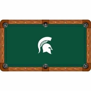 Michigan State Spartans Billiard Table Cloth   moneymachiines.com
