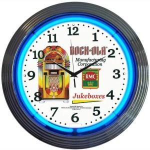 Rockola Jukebox Neon Wall Clock | moneymachines.com