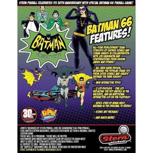 Stern Batman 66 Premium Pinball Game Machine Flyer | moneymachines.com