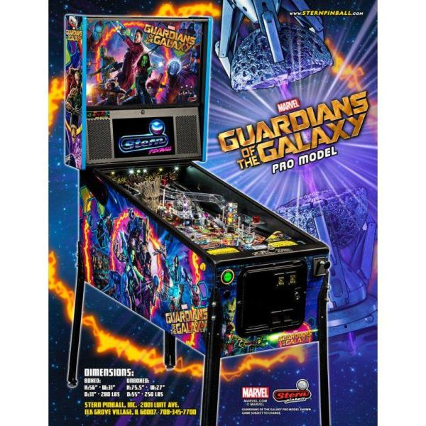 Stern Guardians Of The Galaxy Pinball Flyer | moneymachines.com