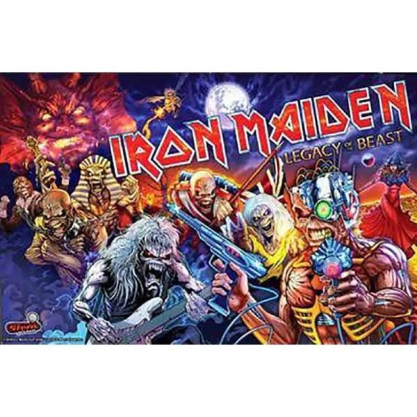 Stern Iron Maiden Pinball Game Machine Back Glass   moneymachines.com