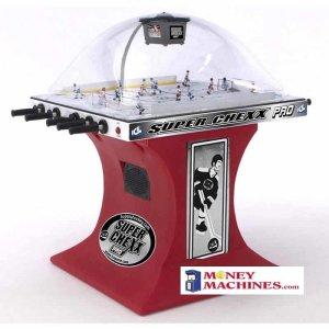 Super Chexx Pro Home Bubble Hockey Table Red Base | moneymachines.com