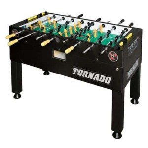 Tornado Tournament T-3000 Matt Black Foosball Game Table - 3 Man Goalie | moneymachines.com
