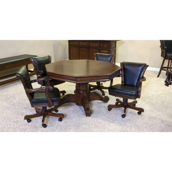 Winslow Game Table Set With 4 V-Back Chairs Closed | moneymachines.com