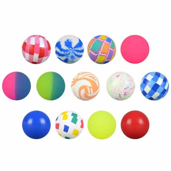 49mm (1 15/16 inch) Assorted Mixed High Bounce Super Balls - 400 Count Case   moneymachines.com