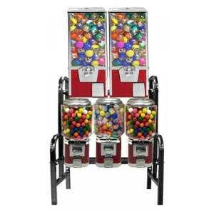 6 Unit Bulk Vending Machine Steel Rack Step Stand | moneymachines.com