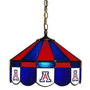 Arizona Wildcats Stained Glass Swag Hanging Lamp | moneymachines.com