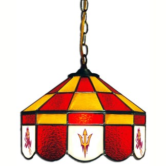 Arizona State Sun Devils Stained Glass Swag Hanging Lamp | moneymachines.com