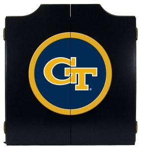 Georgia Tech Yellow Jackets College Logo Dart Cabinet   moneymachines.com