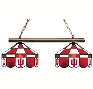 Indiana Hoosiers Executive Stained Glass Game Table Lamp | moneymachines.com