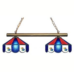 Kansas Jayhawks Stained Glass Game Table Lamp   moneymachines.com