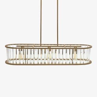 LP-583 HJ Scott Vintage Brass with Glass Fringe Billiard Table Light | moneymachines.com