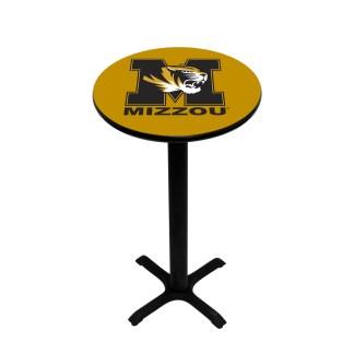 Mizzou Tigers College Logo Pub Table   moneymachines.com