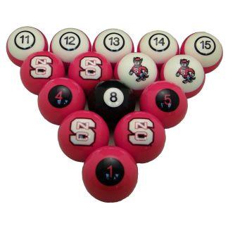 North Carolina State Wolfpack Billiard Ball Set | moneymachines.com