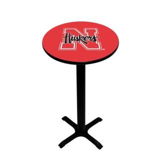 Nebraska Corn Huskers College Logo Pub Table   moneymachines.com