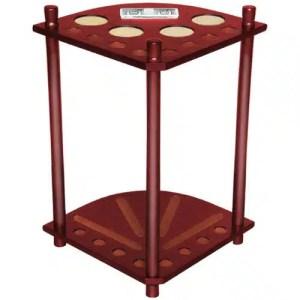 Deluxe Mahogany 8 Stick Corner Pool Cue Rack | moneymachines.com