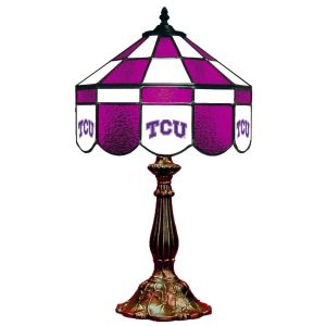 TCU Horned Frogs Stained Glass Table Lamp   moneymachines.com