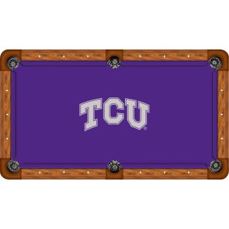 TCU Horned Frogs Billiard Table Cloth | moneymachines.com
