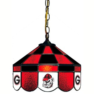 Georgia Bulldogs Stained Glass Swag Hanging Lamp | moneymachines.com