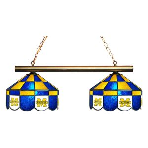 Michigan Wolverines Executive Stained Glass Game Table Lamp | moneymachines.com