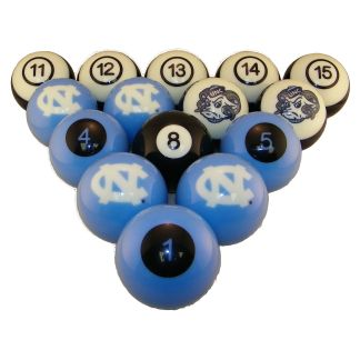 North Carolina Tar Heels Billiard Ball Set | moneymachines.com