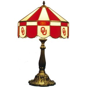 Oklahoma Sooners Stained Glass Table Lamp | moneymachines.com