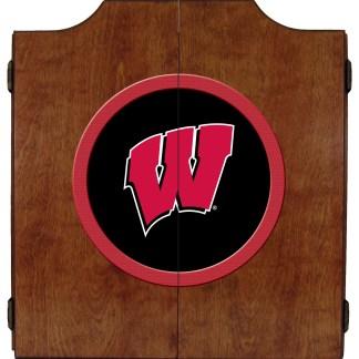 Wisconsin Badgers College Logo Dart Cabinet | moneymachines.com | moneymachines.com
