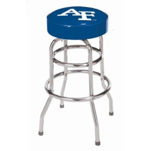 Air Force Falcons College Logo Double Rung Bar Stool | moneymachines.com