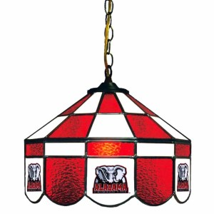 Alabama Crimson Tide Stained Glass Swag Hanging Lamp | moneymachines.com