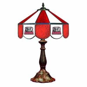 Alabama Crimson Tide Stained Glass Table Lamp | moneymachines.com