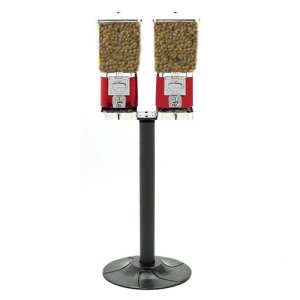 Two Animal Feed Vending Machines & Stand | moneymachines.com