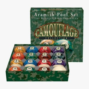 Aramith Camouflage Collection Ball Set | moneymachines.com