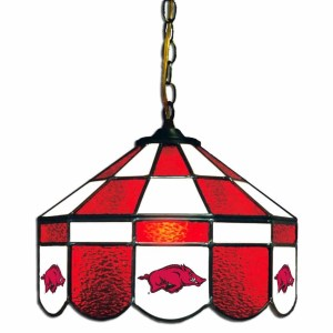 Arkansas Razorbacks Stained Glass Swag Hanging Lamp | moneymachines.com