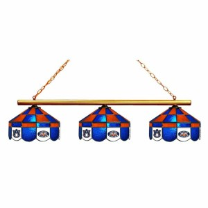 Auburn Tigers 3 Light Executive Stained Glass Game Table Light | moneymachines.com