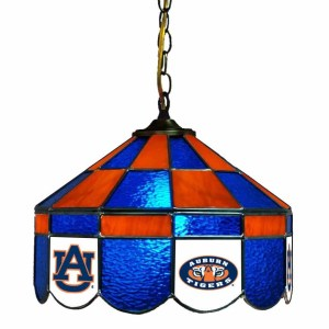 Auburn Tigers Stained Glass Swag Hanging Lamp | moneymachines.com