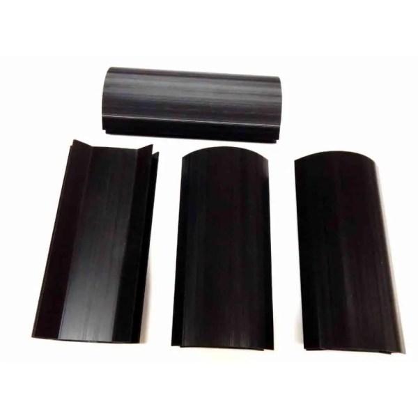 Black 7 3/4 x 1/2 Inch Plastic Pool Table Miter Corners - Set of 4 | moneymachines.com