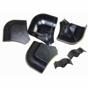Black Plastic AMF Pool Table Rail Caps - Set of 4 | moneymachines.com