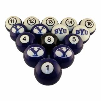 Brigham Young Cougars Billiard Ball Set | moneymachines.com
