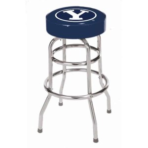 Brigham Young Cougars College Logo Double Rung Bar Stool | moneymachines.com